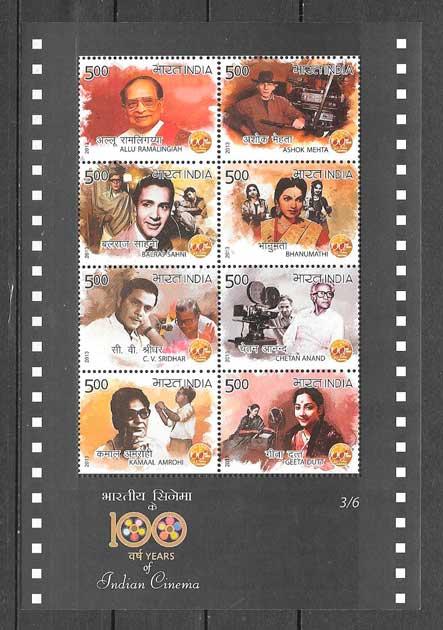 sellos colección cine India 2013