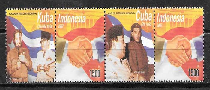 sellos colección Emisión Conjunta 2007 Indonesia