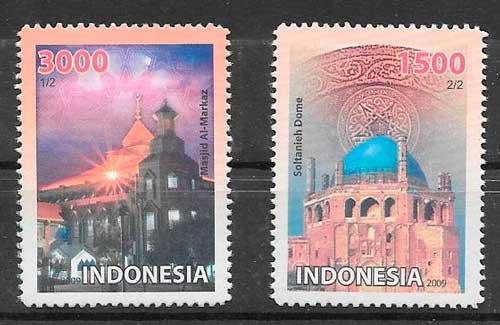 filatelia emisiones conjuntas indonesia 2009