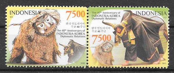 sellos colección emision conjunta Indonesia 2013