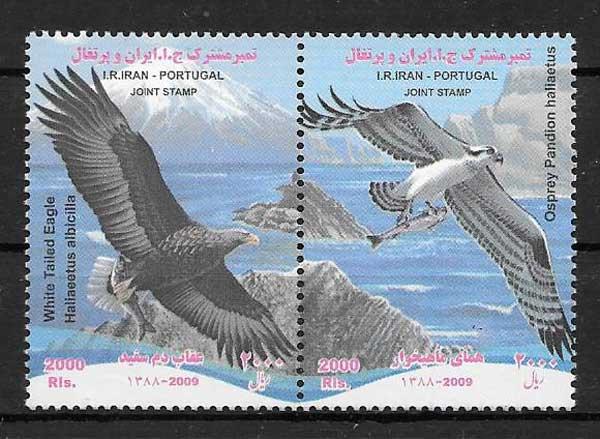 sellos colección Emisión Conjunta Irán 2009