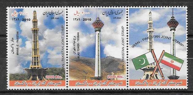 colección sellos Emisión Conjunta Irán 2011
