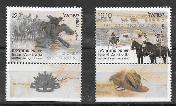 sellos Emisiones Conjuntas Israel 2013