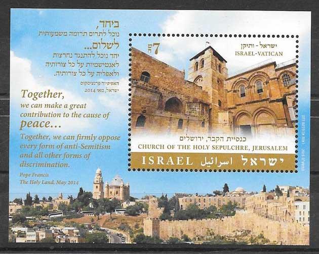 Filatelia Emisión Conjunta Israel 2014