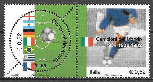 sellos Emisión Conjunta Italia 2002