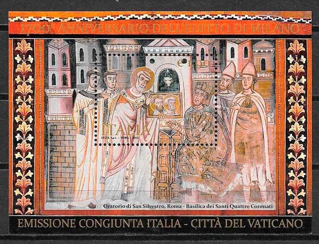 filatelia colección emisión conjunta Italia 2013
