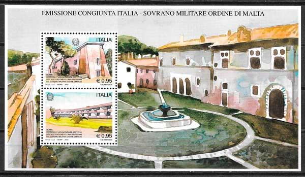 sellos emisiones conjuntas Italia 2015