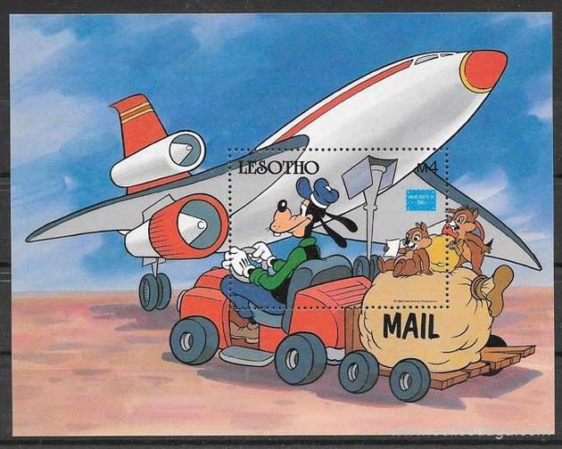 sellos colección Disney Lesoto 1986