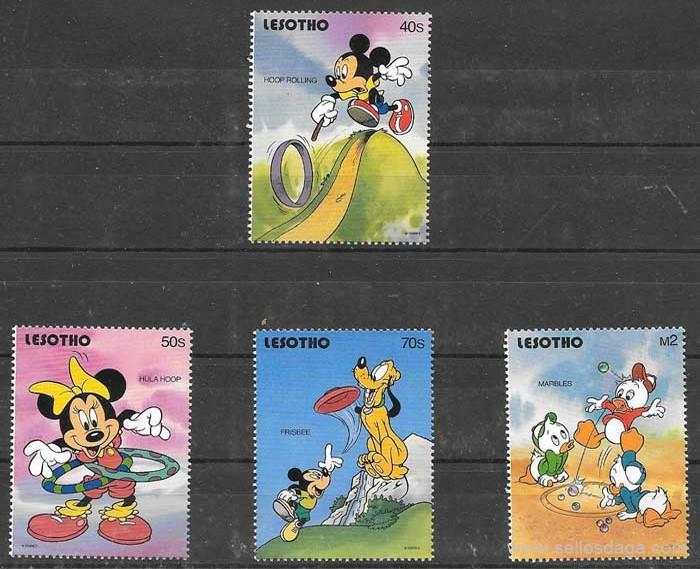 colección fiulatelia Disney Lesoto 1991