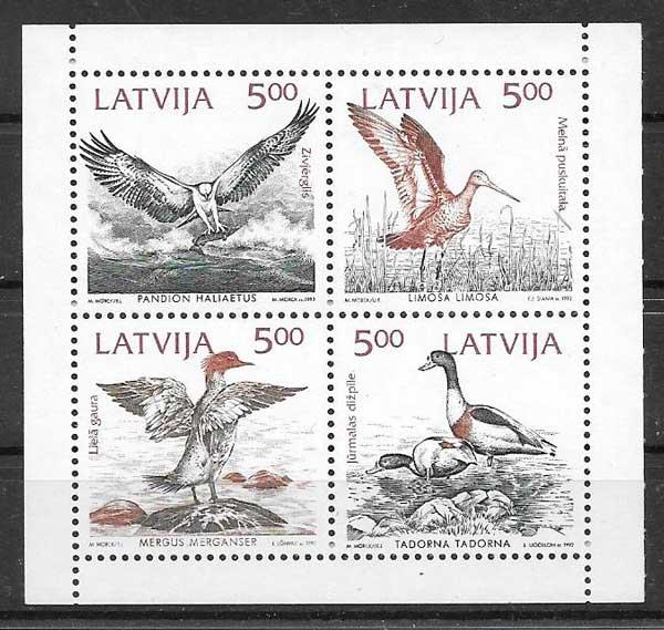 sellos colección Emisión Conjunta Letonia 1992