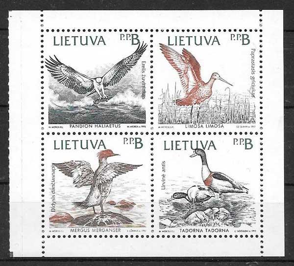 sellos colección Emisión Conjunta Lituania 1992