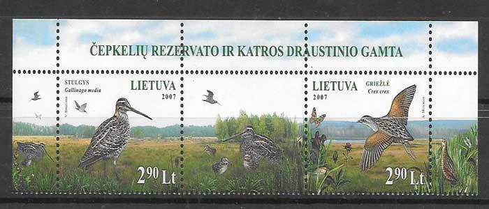 selos colección Emisiones Conjunta Lituania 2007