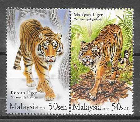 colección sellos Emisiones Conjunta Malasia 2010