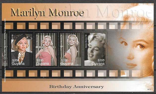 colección sellos cine Guyana 2006