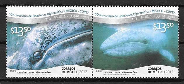sellos Emisión Conjunta México 2012