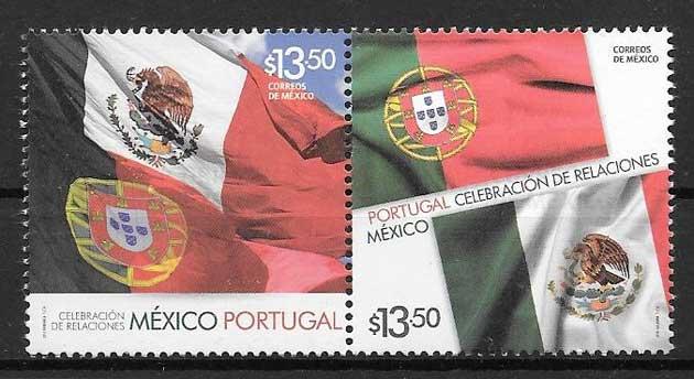 Filatelia Emisiones Conjuntas México 2014