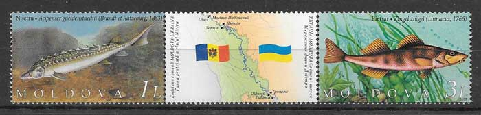 sellos Emisión Conjunta Moldavia 2007