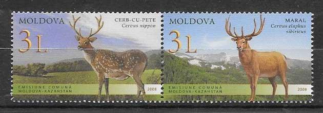 Filatelia Emisión Conjunta Moldavia 2008