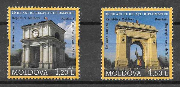 Filatelia Emisión Conjunta Moldavia 2011