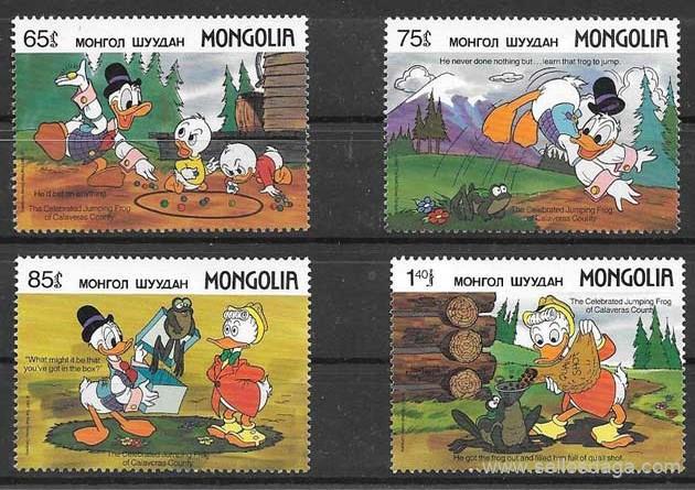 filatelia Disney 1989 Mongolia