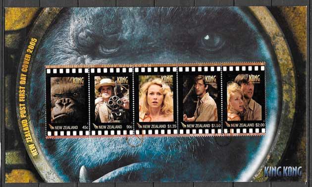 colección sellos cine Nueva Zelanda 2005