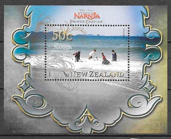 filatelia cine Nueva Zelanda 2008