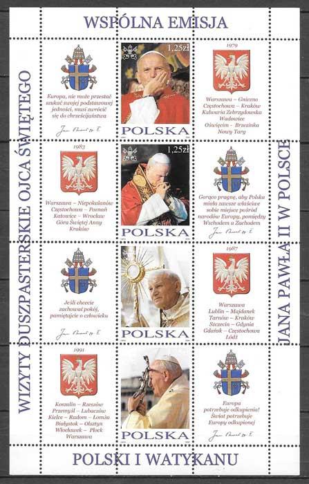 sellos Emisión Conjunta Polonia 2004