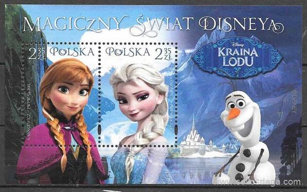 sellos Disney Polonia 2015