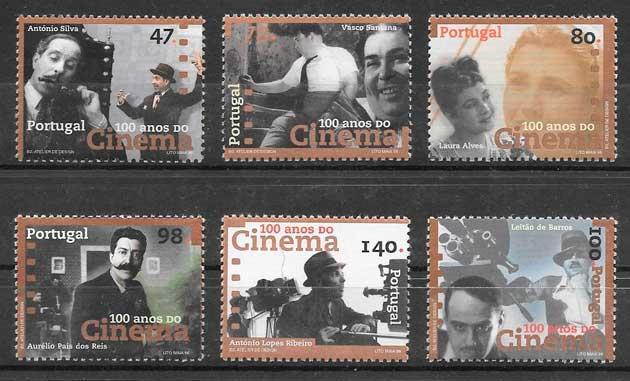 filatelia colección cine Portugal 1996
