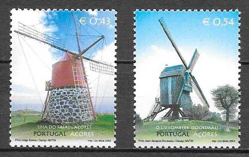 sellos emisiones conjuntas Portugal Azores 2002
