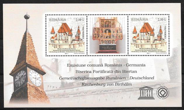 filatelia emisión Conjunta Rumanía 2011