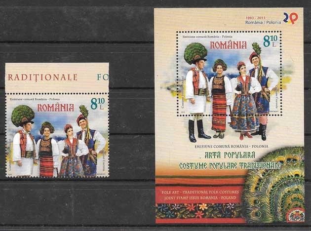 sellos coleccion Emisión Conjunta Rumanía 2013