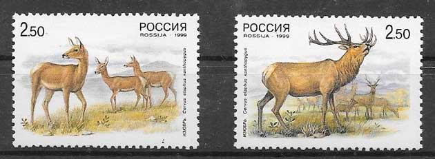 sellos colección Emisión Conjunta Rusia 1999
