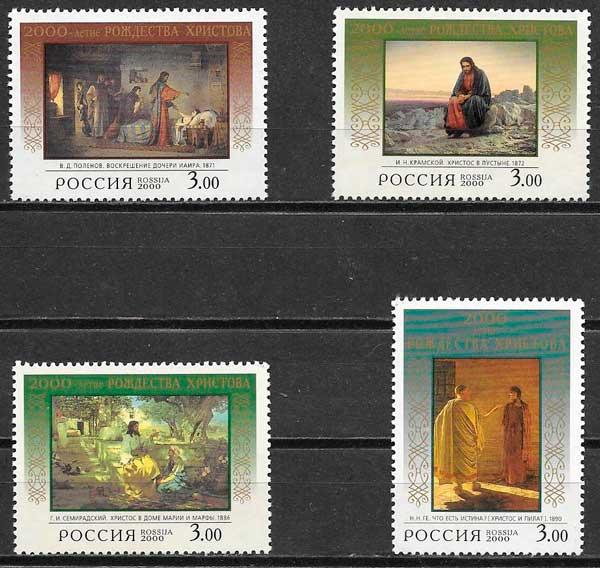 filatelia colección arte Rusia 2000