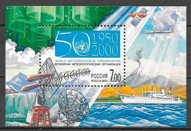 filatelia meteorología Rusia 2000
