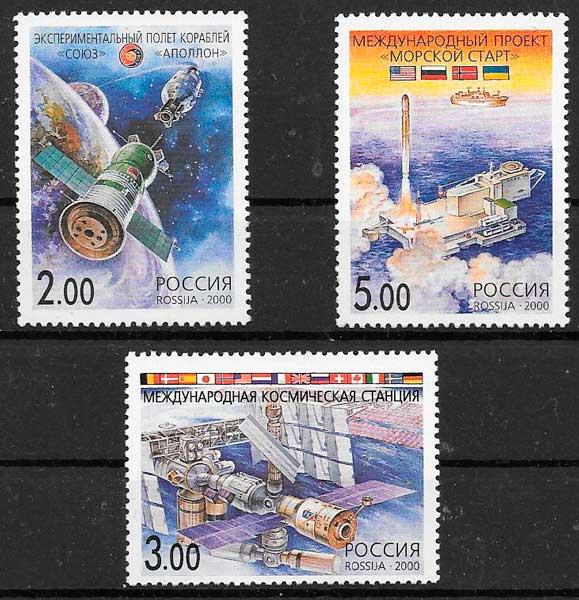 colección sellos espacio Rusia 2000