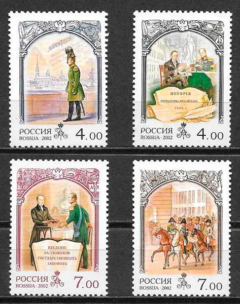colección sellos personalidades Rusia 2002