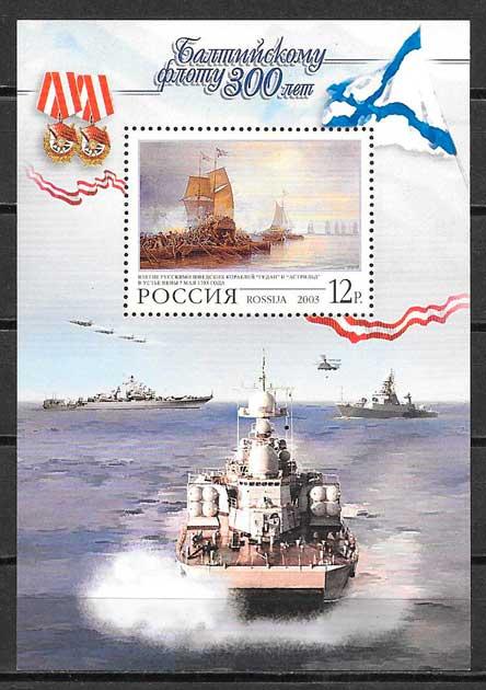 colección sellos transporte Rusia 2003