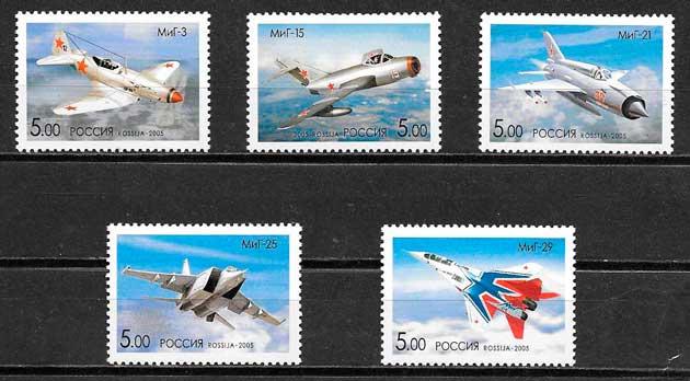 colección sellos transporte Rusia 2005