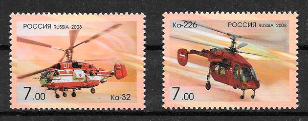 sellos de Rusia transporte 2008