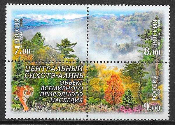 colección sellos fauna y flora Rusia 2008