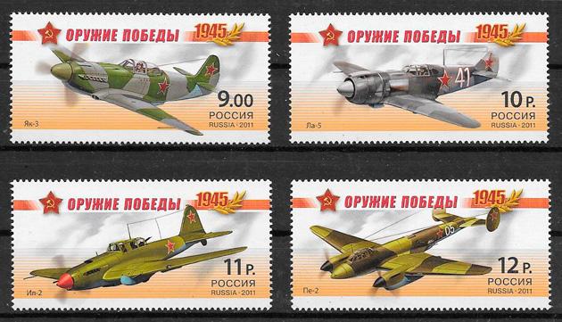 filatelia colección sellos de Rusia 2011