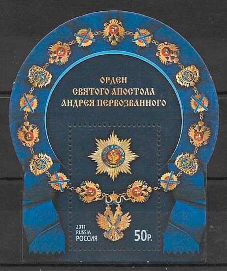 filatelia temas varios Rusia 2011