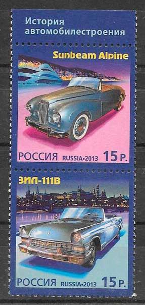 filatelia emisiones conjunta Rusia 2013