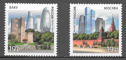colección sellos emisiones conjuntas Rusia 2015