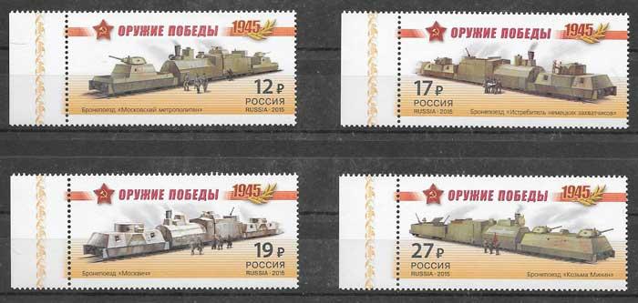 Filatelia II Guerra Mundial Rusia 2015