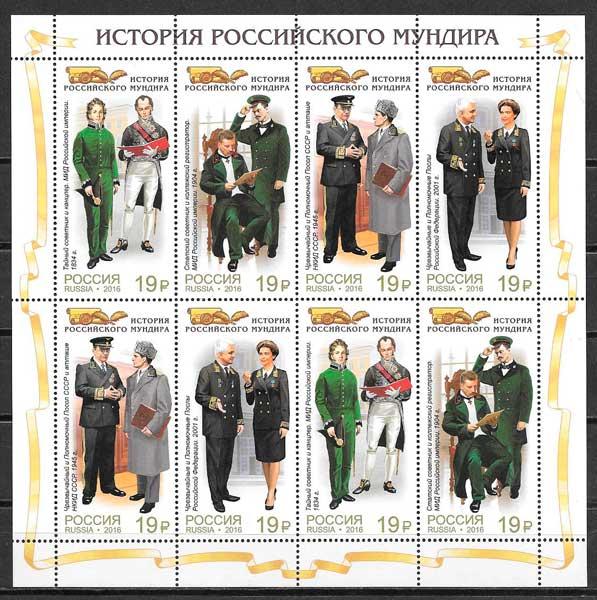 filatelia temas varios Rusia 2016