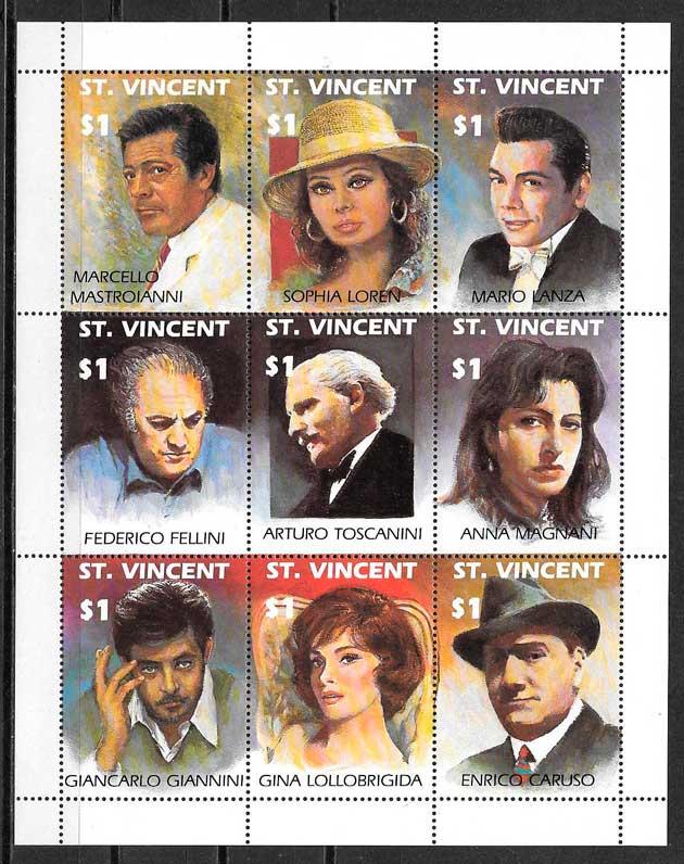 colección sellos cine St Vincent 1991