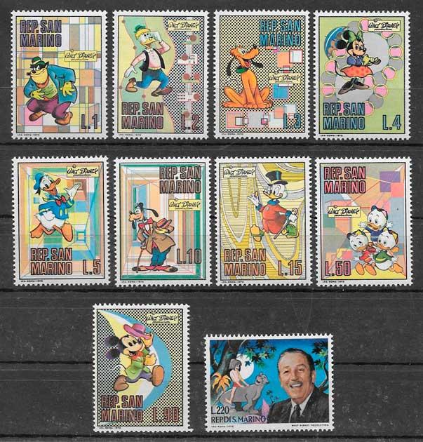 sellos Disney San Marno 1970