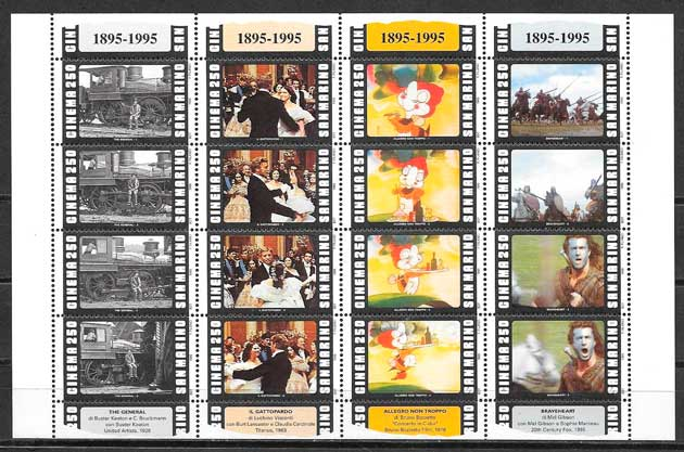 sellos cine San Marino 1995